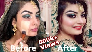 Real BRIDAL| ASIAN/INDIAN Bridal MAKEUP |Engagement/Nikkah STEP-By-STEP Tutorial |JASLEENXBEAUTY