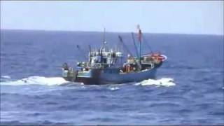 Japanese coastguard hit Chinese fishing boat at Diaoyu Island Video 4-钓鱼岛撞船录像全版6/4