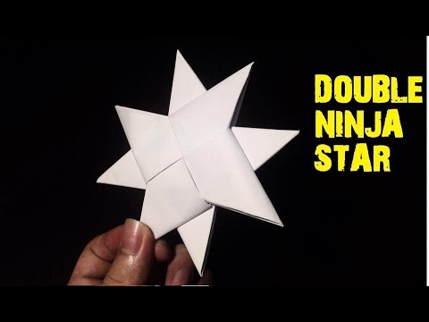 How To Make A Paper Double Ninja Star Origami Youtube