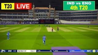 🔴ENG vs IND LIVE CRICKET 4th T20 || LIVE SCORE & COMMENTARY | ENGLAND vs INDIA | LIVE CRICKET