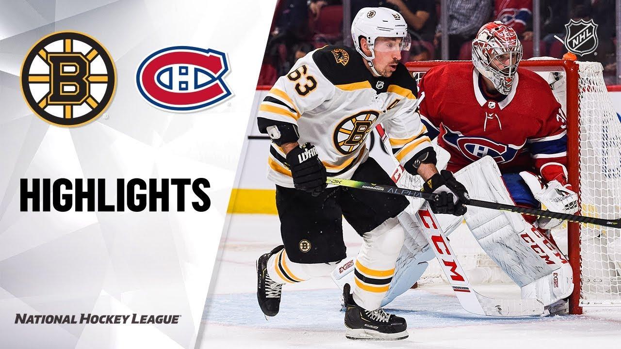 NHL Highlights | Bruins @ Canadiens 11/26/19