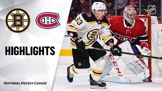 NHL Highlights | Bruins @ Canadiens 11/26/19