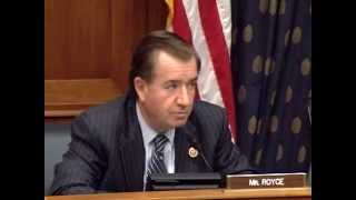 Chairman Royce Delivers Opening Statement at Hearing on Libya