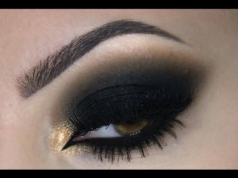 Black Smokey Eye ♡ Make Up ♡ - YouTube