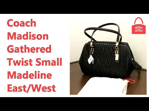 Coach Madison Gathered Twist Small Madeline East/West Satchel 25982