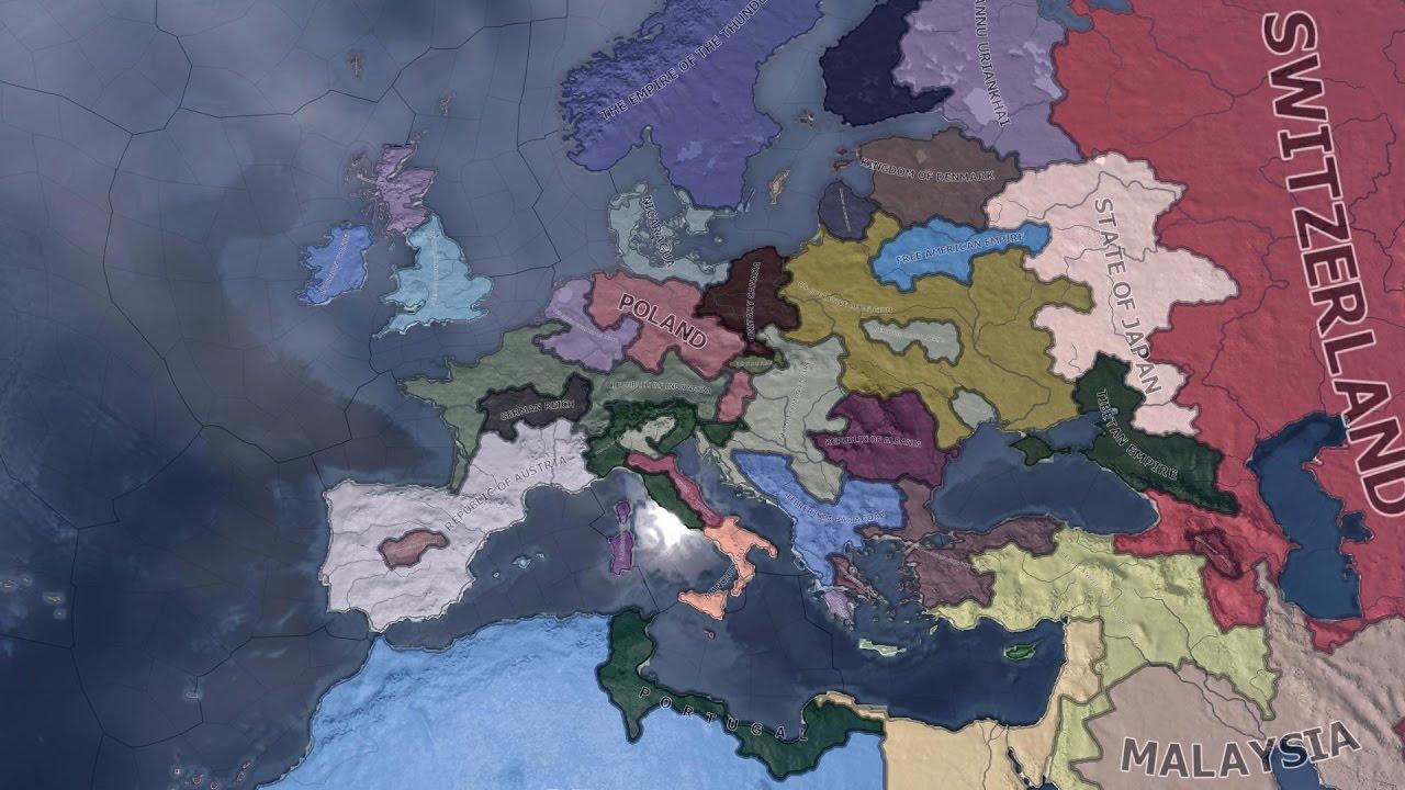 Random World Map.Hoi4 Random World Timelapse Youtube