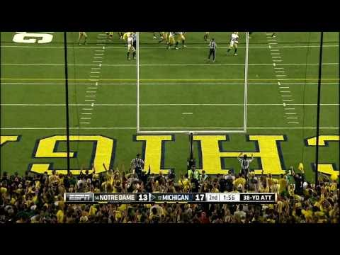 2013 Notre Dame at Michigan Football Highlights
