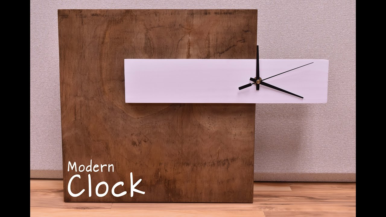 How To Make A Modern Clock | DIY Build   YouTube