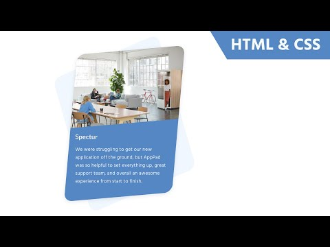 HTML And CSS Card Design Tutorial Featuring CSS Skew