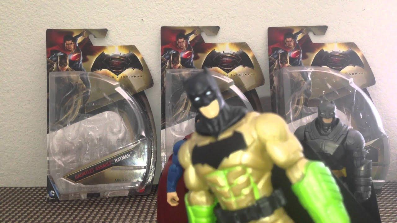 """2 PK Batman v Superman Dawn of Justice Gauntlet Assault Batman 6/"""" Figure Mattel"""
