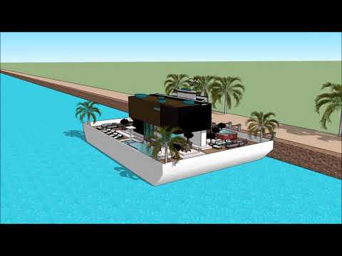 Russia Moscow waterfront Плавучий дом симс 3  floating houses with basement floating house sims 3 li