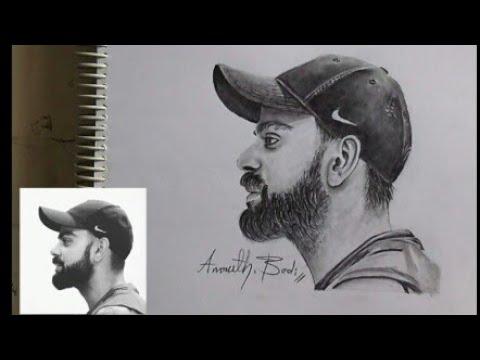 Drawing Virat Kohli Art