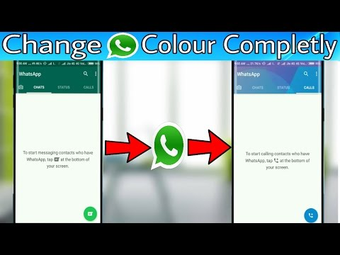 How to Change Whatsapp Theme Colour and Look Completely [No Root]