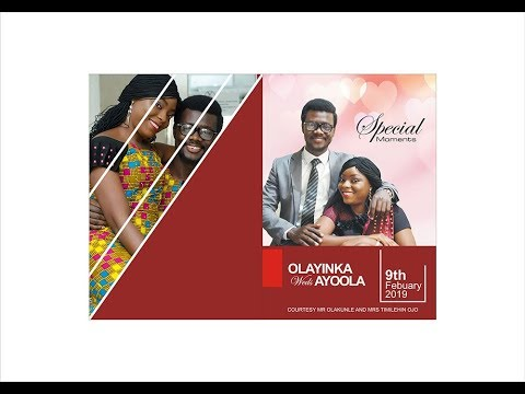 Designing Wedding Jotter Of A Nigerian Couple In Coredraw X3 Youtube