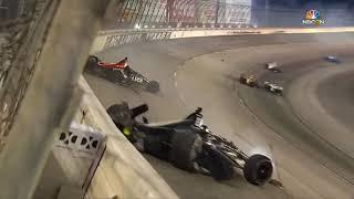 IndyCar Series 2018. Texas Motor Speedway. Robert Wickens & Ed Carpenter Crash