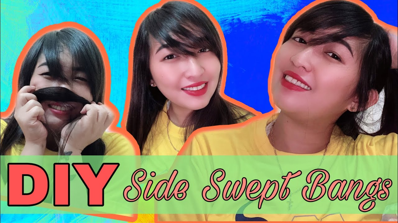 HOW TO CUT SIDE SWEPT BANGS AT HOME | DIY BANGS - YouTube