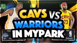 "NBA2k17 WARRIORS VS CAVALIERS AT THE PARK! ""HOOD SKITS"" Playoffs Predictions, GAME 2 TONIGHT!"