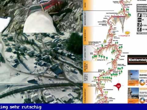 Klettersteig Nasenwand : Klettersteig nasenwand ginzling winter youtube