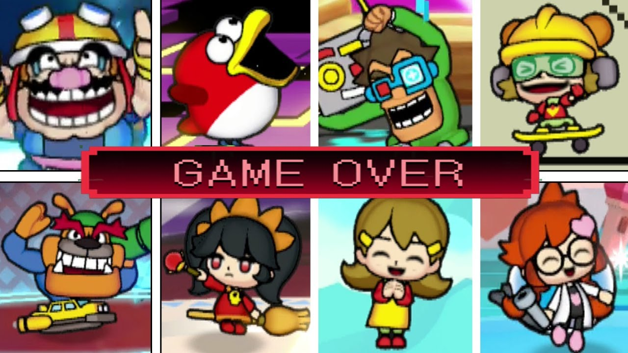 All Character's Victory/Lose Animations + All 18 Game Over Screens (WarioWare: Get It Together)