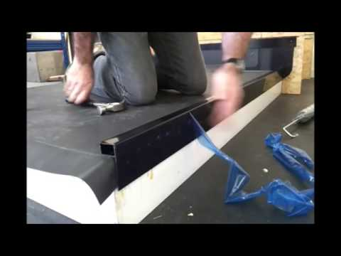 How To Fit A Flat Roof Kerb Edge Finish Youtube
