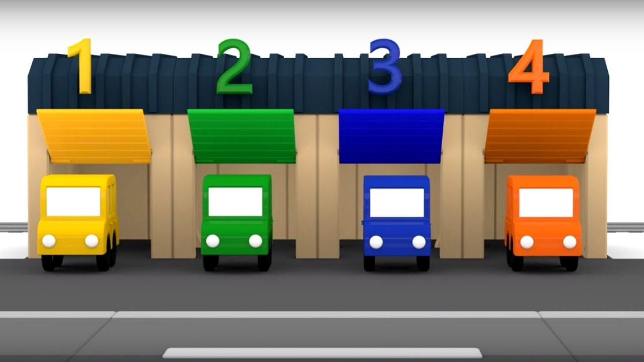 4 coches coloreados maria y el autob s n mero 5 youtube for Garajes para carros