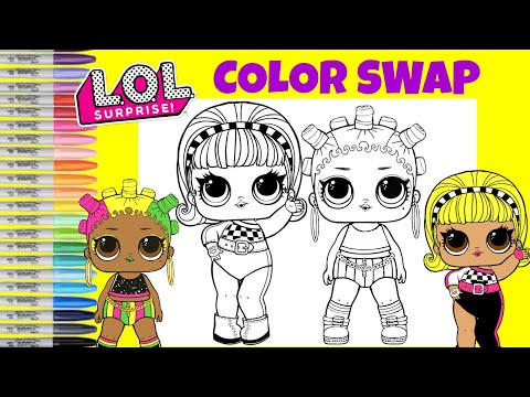 lol-surprise-dolls-color-switch-up-jammin-and-drag-racer-lol-surprise-coloring-book-page
