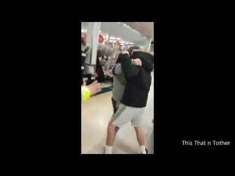 Travellers Bare Knuckle Fight in Supermarket Sainsburys UK