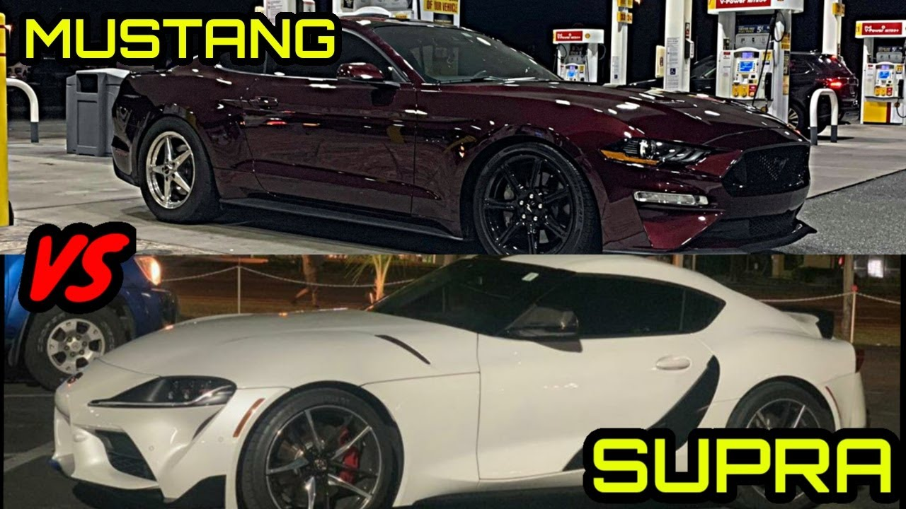 FORD MUSTANG VS MKV TOYOTA SUPRA MONEY RACE! + More Street Racing!