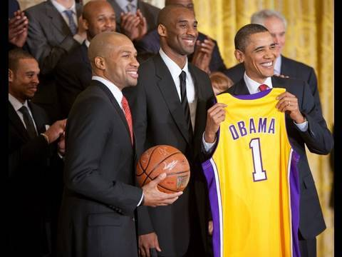 President Obama Welcomes the Los Angeles Lakers