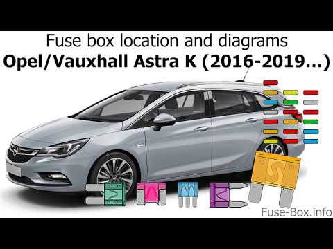 fuse box location and diagrams: opel / vauxhall astra k (2016-2019…) -  youtube