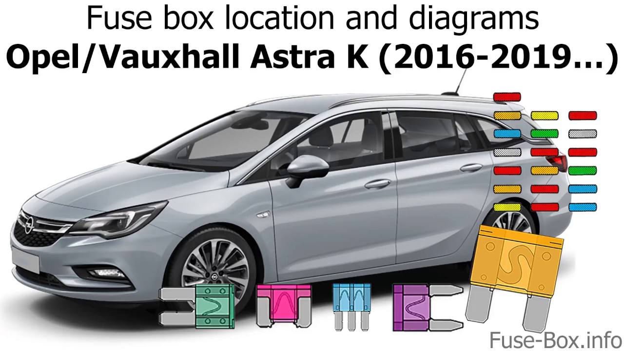 fuse box location and diagrams: opel / vauxhall astra k (2016-2019…)