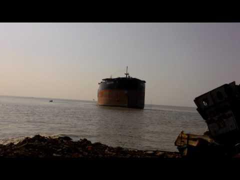 SING FU STAR...Ship anchoring very close to land in Bangladesh ship breaking field..
