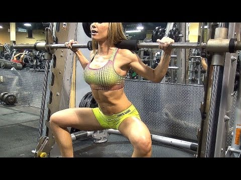 Butt Workout in the Gym w HOT Fitness Model!! Exercise 2 & 3