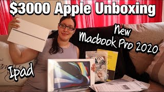 $3000 APPLE UNBOXING | NEW 2020 Macbook Pro 16 inch + Ipad Unboxing | gabrielle barile
