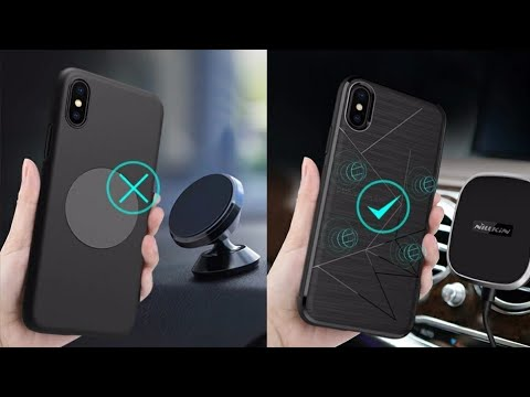quality design c7db4 ced85 For iphone x luxury case Nillkin QI Wireless Charging Receiver Back Cover  fit for Magnetic Holder