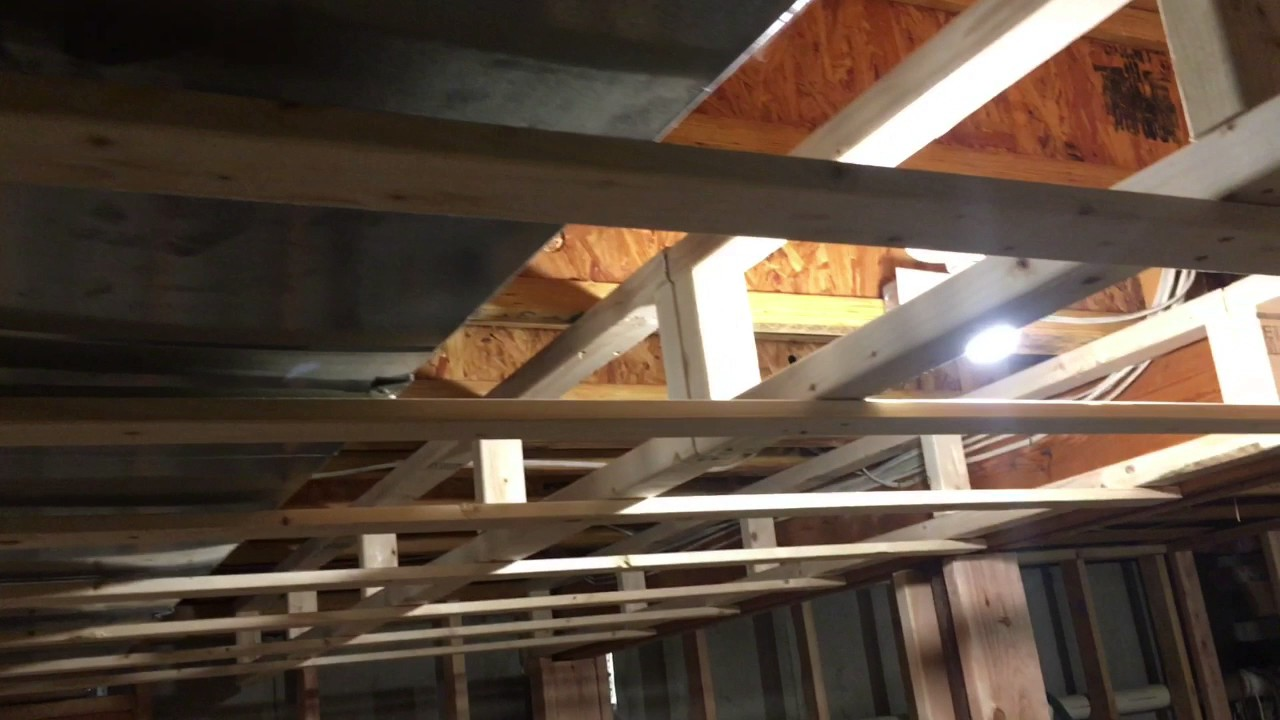 Finishing My Basement Soffit Framing Around Duct Work
