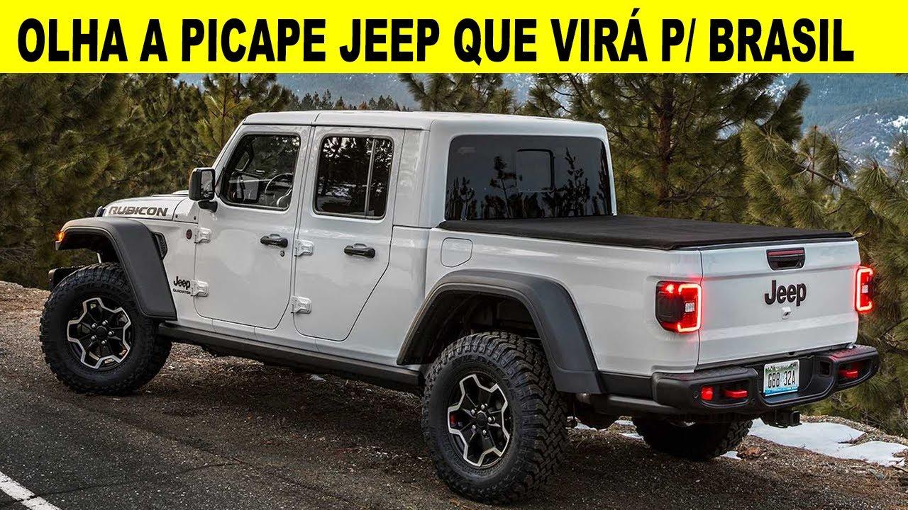 Picape Jeep Gladiator 3 6 V6 2020 P O Brasil E Ram 1500 Confirmado Youtube