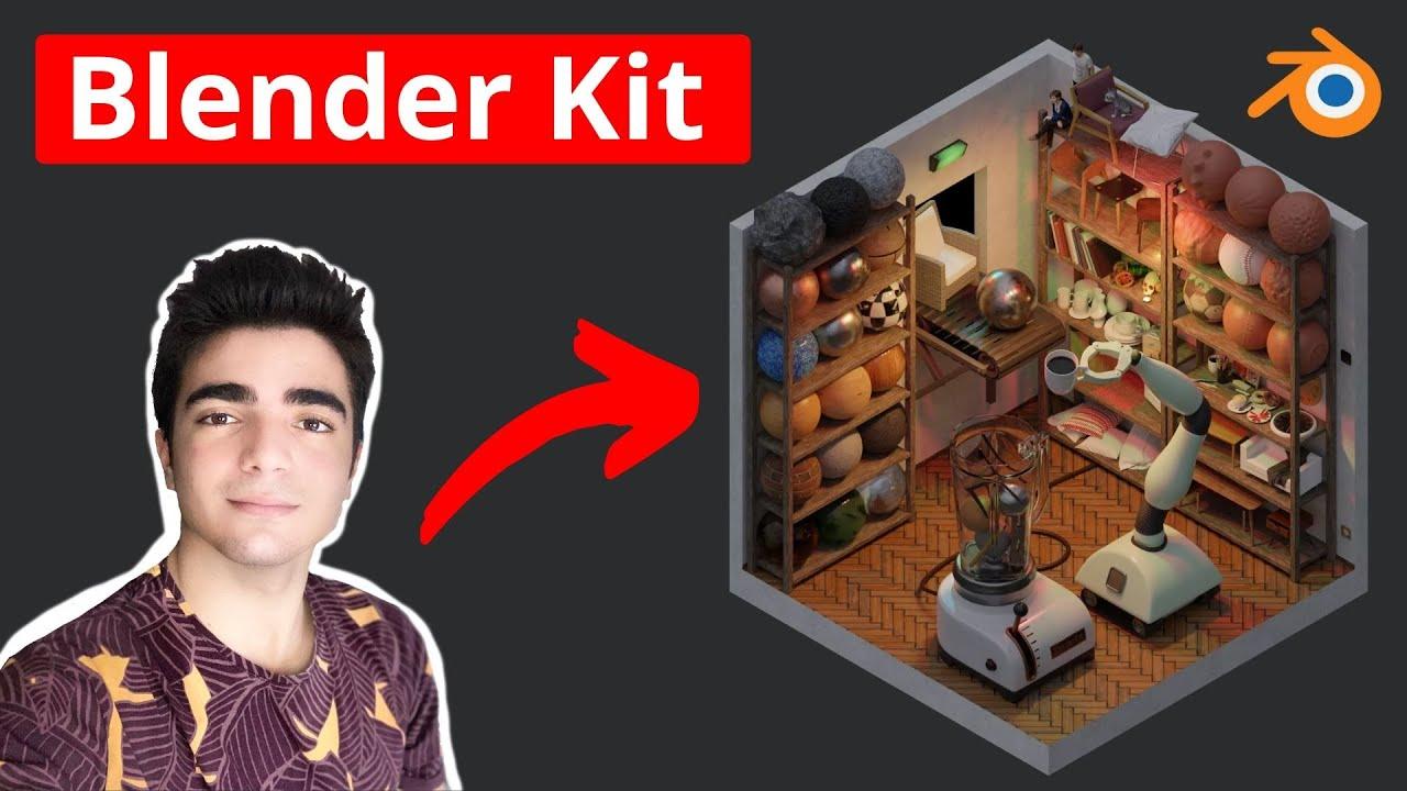 BlenderKit - Une bibliothèque d'objets/matériaux intégrée à Blender !
