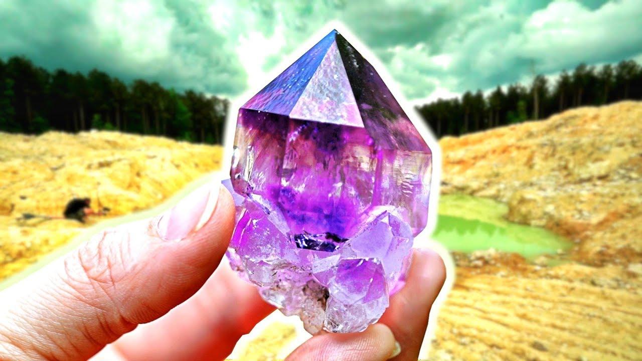 I Found CRAZY Amethyst Quartz Crystals at the Jackson's Crossroads Mine in  Georgia!