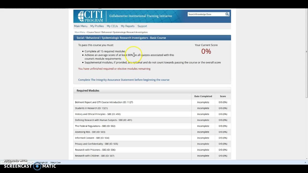 Citi Training For Irb Youtube