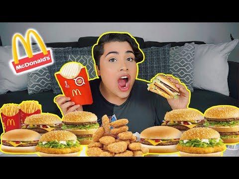 MUKBANG: MASSIVE MCDONALDS (eating show)  BIG MAC + FRIES + CHICKEN NUGGETS!