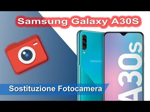Samsung Galaxy A30s SM-A307 smontaggio e sostituzione fotocamera posteriore. Rear Camera replacement