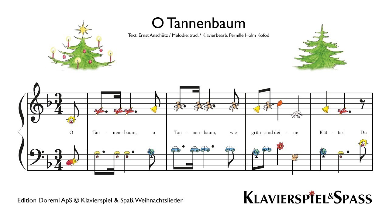 o tannenbaum weihnachtslieder klavier youtube. Black Bedroom Furniture Sets. Home Design Ideas