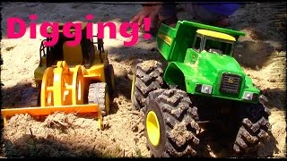 Monster Dump truck toys for children | CAT front end loader in action