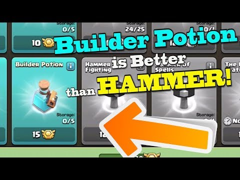 *NEW BUILDER POTION STRATEGY* -- It's BETTER Than A MAGIC HAMMER!! | Clash Of Clans Clan War Leagues