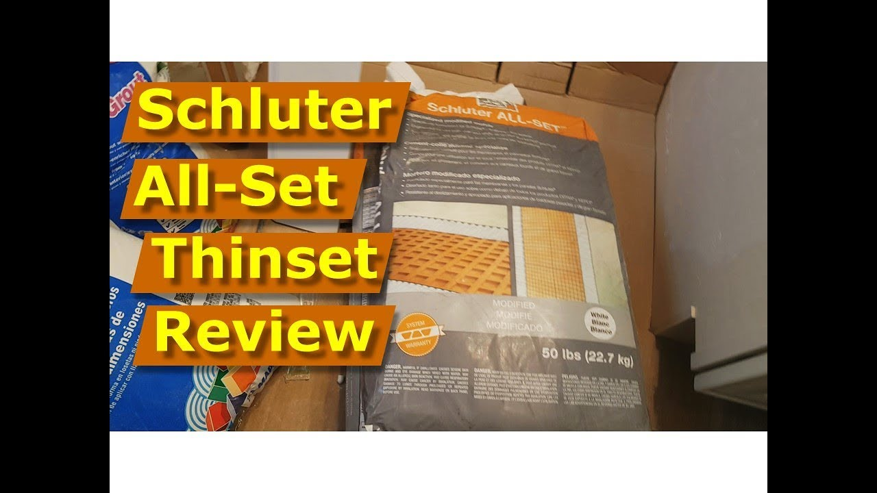 Review Schluter Allset Thinset Tile Mortar Schluter Kerdi Shower Walls
