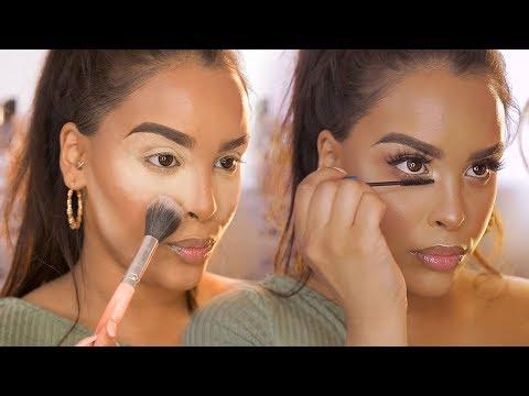 Natural makeup for brown skin