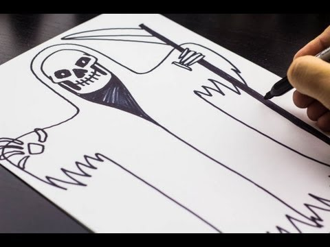how to draw the grim reaper for halloween - Halloween Pictures To Draw