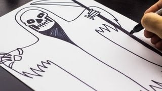 How To Draw The Grim Reaper for Halloween!