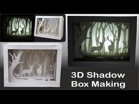 3D Paper Art Shadow Box - Best Paper Crafts Ideas